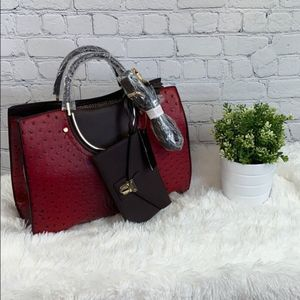 NEW Red Faux Leather  Purse